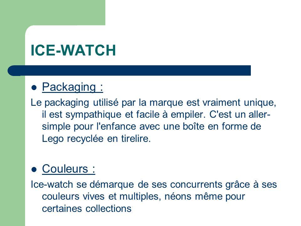 ICE-WATCH Packaging : Le packaging utilisé par la marque est vraiment unique, il est sympathique et facile à empiler.
