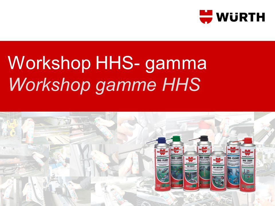 Workshop HHS- gamma Workshop gamme HHS