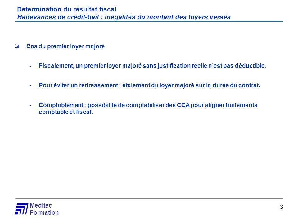 Meditec Formation Cas pratique Redevances de crédit-bail Financement dun camion par crédit bail conclu le 1/06/2010.