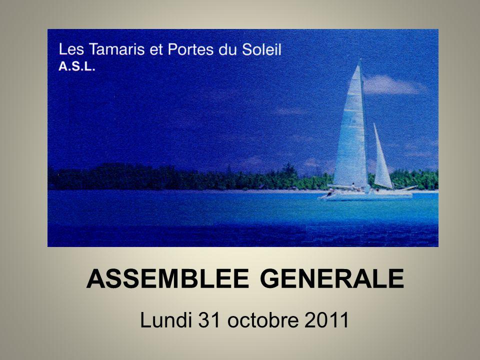 ASSEMBLEE GENERALE Lundi 31 octobre 2011