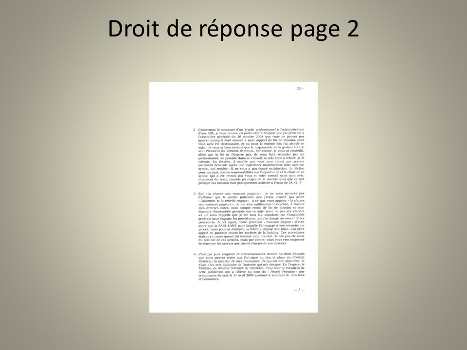Droit de réponse page 2