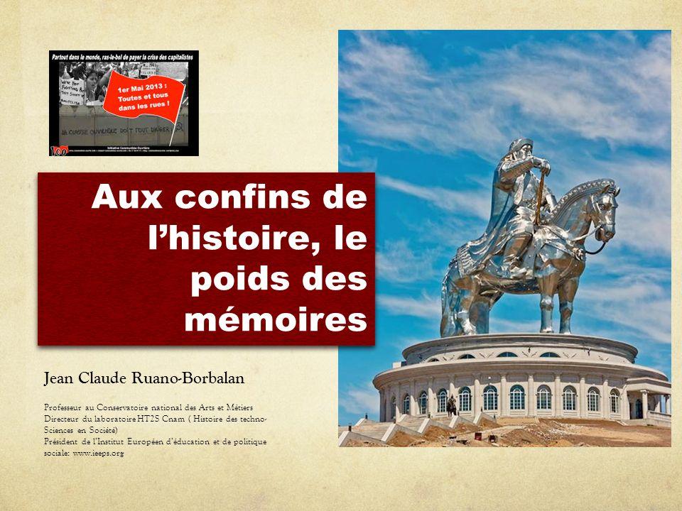 Aux confins de lhistoire, le poids des mémoires Jean Claude Ruano-Borbalan Professeur au Conservatoire national des Arts et Métiers Directeur du labor