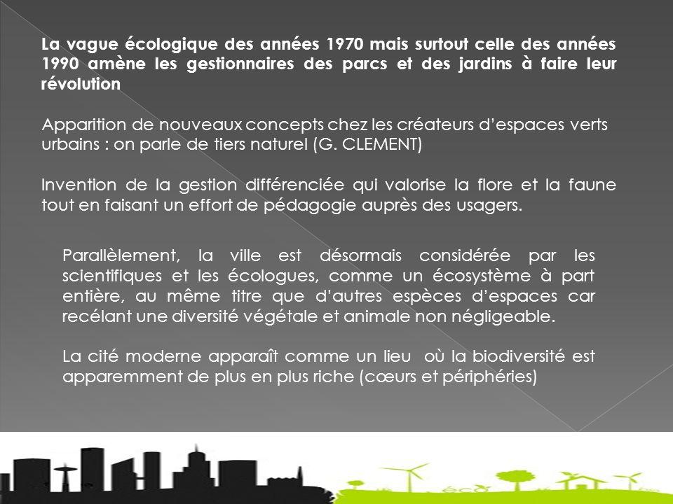 Les villes, des nouveaux théâtres pour le maintien et le développement de la biodiversité .
