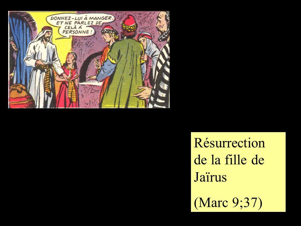 Résurrection de la fille de Jaïrus (Marc 9;37)