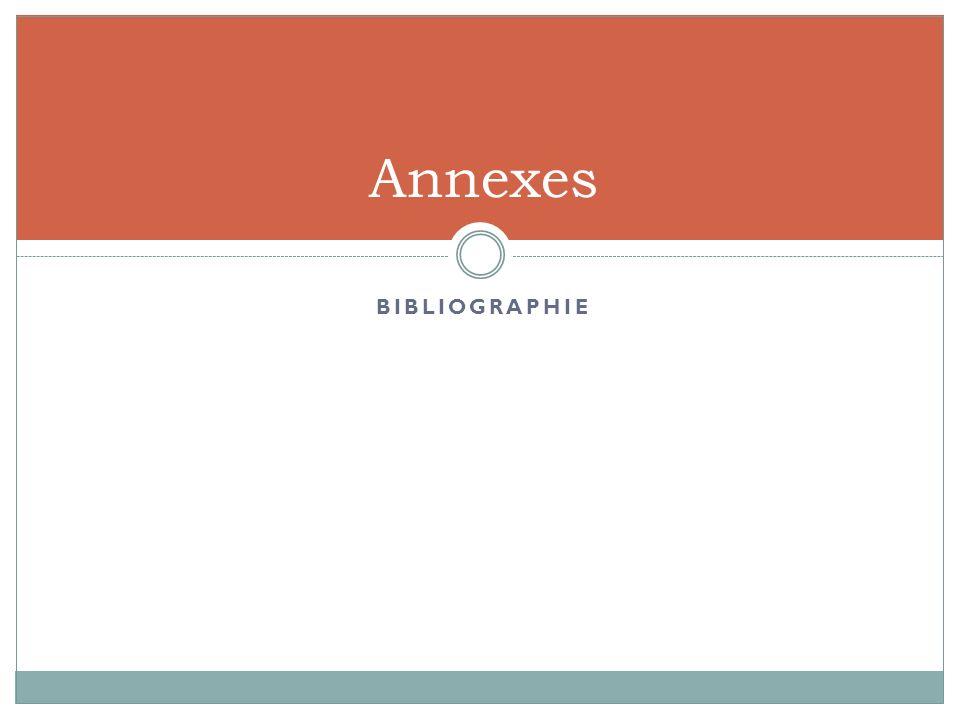 BIBLIOGRAPHIE Annexes