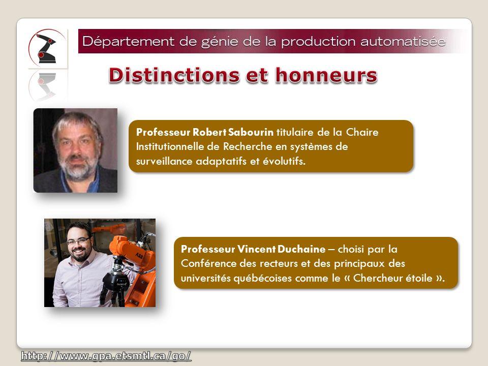Professeur Robert Sabourin Membre du Cercle dexcellence de lUniversité du Québec.