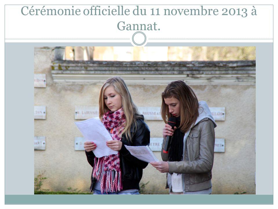 Cérémonie officielle du 11 novembre 2013 à Gannat.