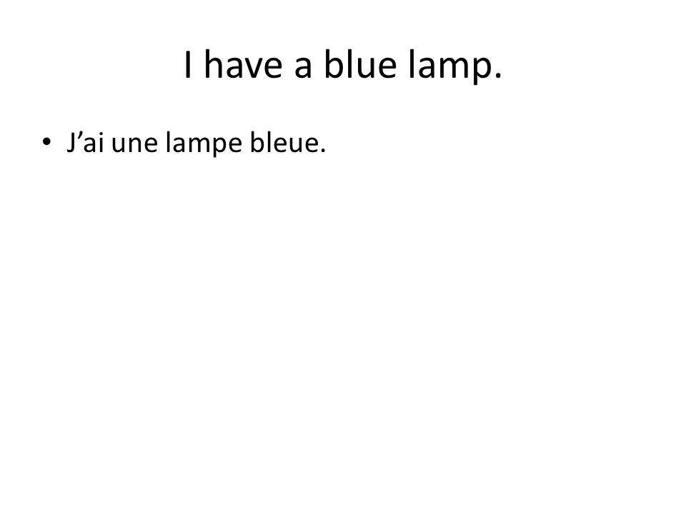Jai une lampe bleue.