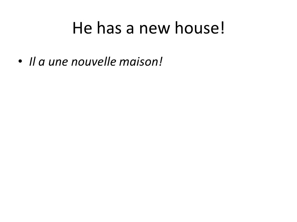 Il a une nouvelle maison!
