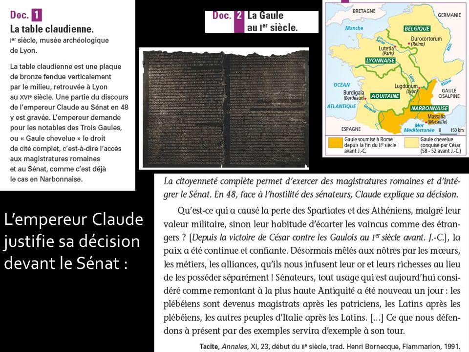 Lempereur Claude justifie sa décision devant le Sénat :