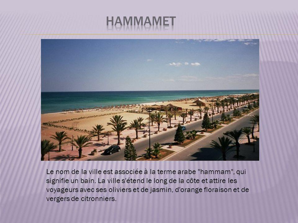 Le nom de la ville est associée à la terme arabe hammam , qui signifie un bain.