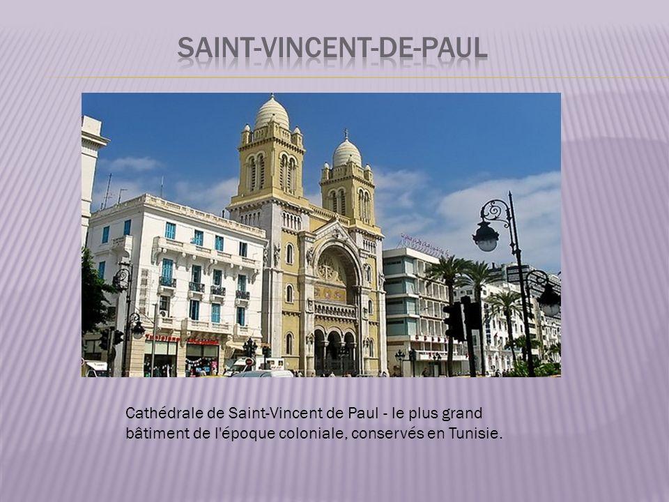 Cathédrale de Saint-Vincent de Paul - le plus grand bâtiment de l époque coloniale, conservés en Tunisie.