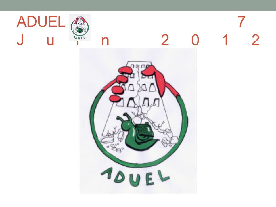 ADUEL7 Juin 2012