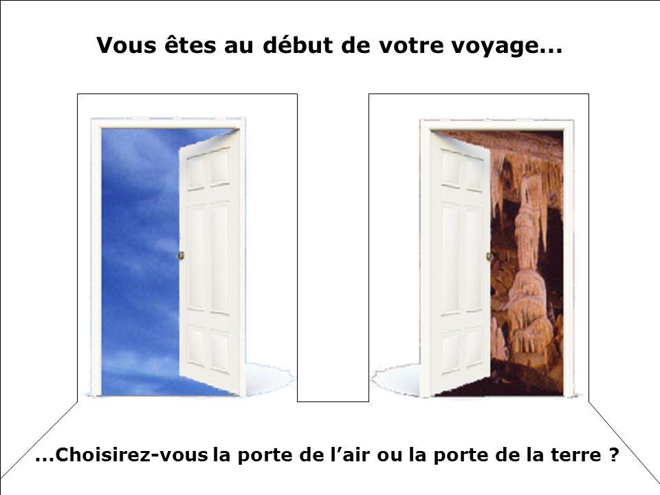 Vous êtes au début de votre voyage......Choisirez-vous la porte de lair ou la porte de la terre ?