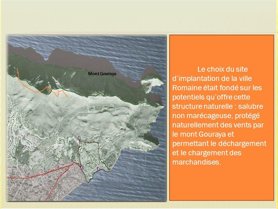 Mont Gouraya Le choix du site dimplantation de la ville Romaine était fondé sur les potentiels quoffre cette structure naturelle : salubre non marécag