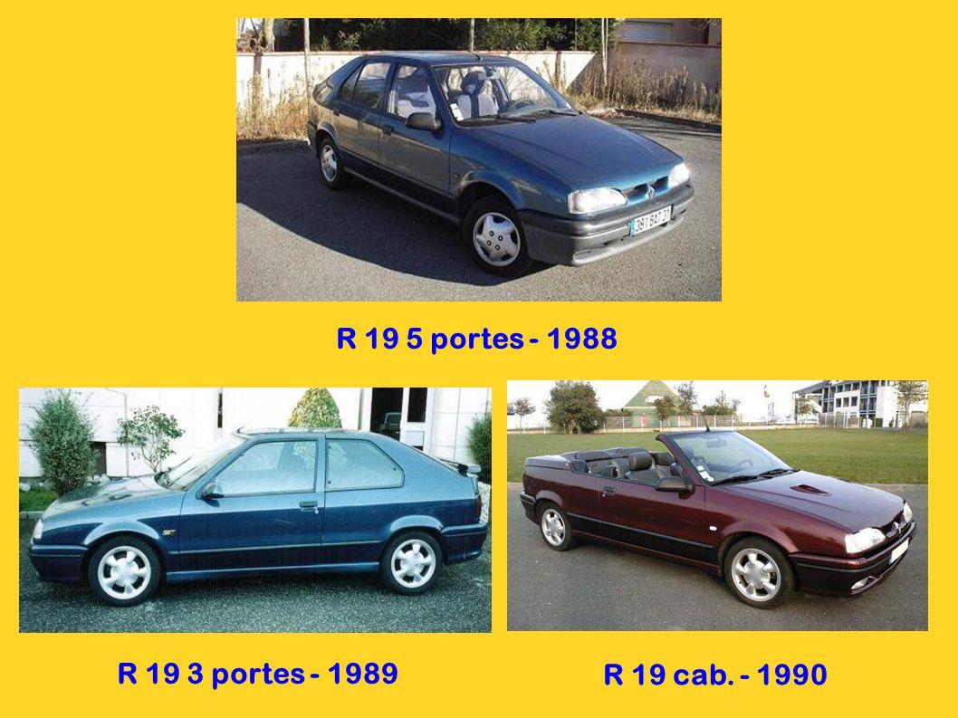 R 21 4 portes - 1986 R 21 5 portes - 1989 R 21 Névada - 1987