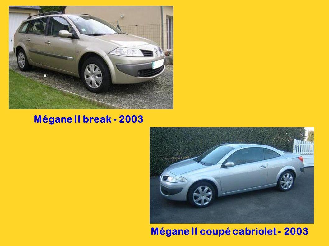 Mégane II - 2003 5 portes 4 portes 3 portes