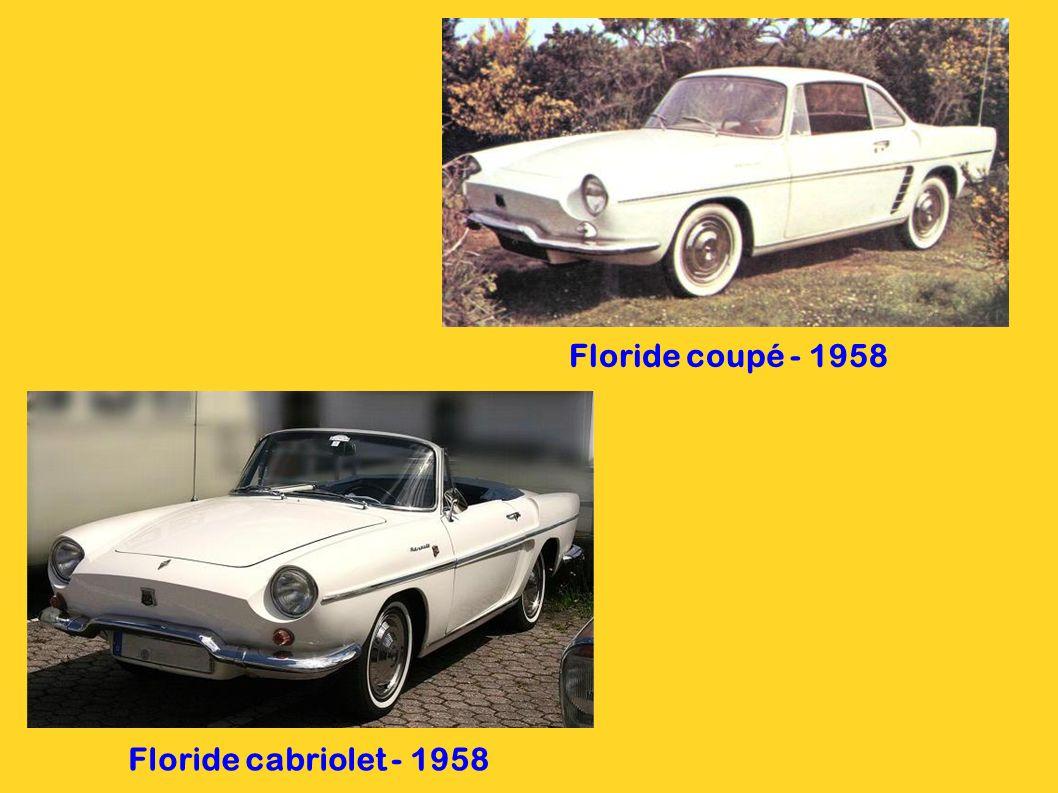 Floride cabriolet - 1958 Floride coupé - 1958