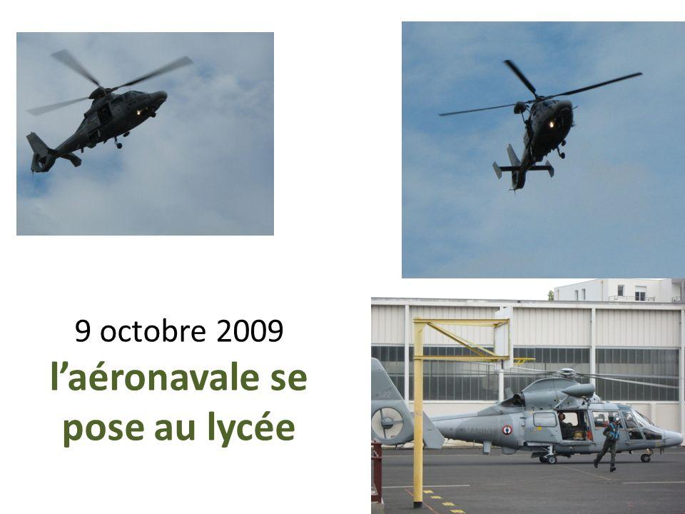 9 octobre 2009 laéronavale se pose au lycée