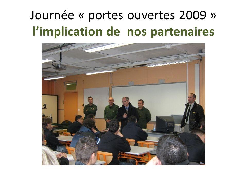 Journée « portes ouvertes 2009 » limplication de nos partenaires