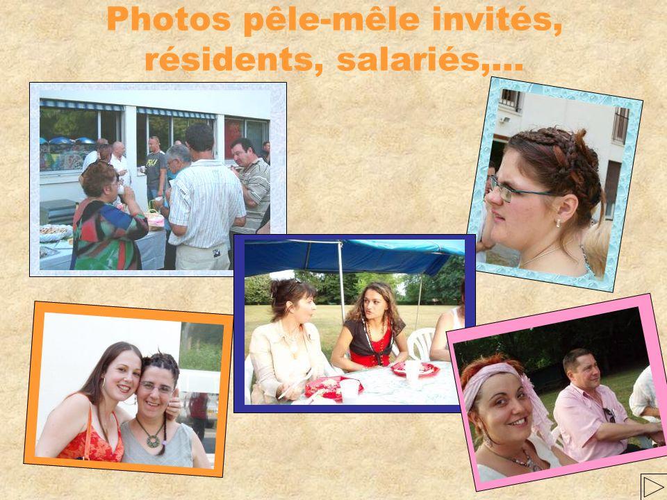 Photos pêle-mêle invités, résidents, salariés,… Notre psy