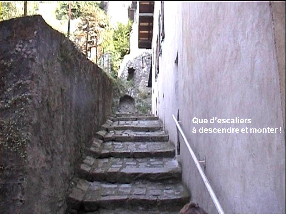 Que descaliers à descendre et monter !