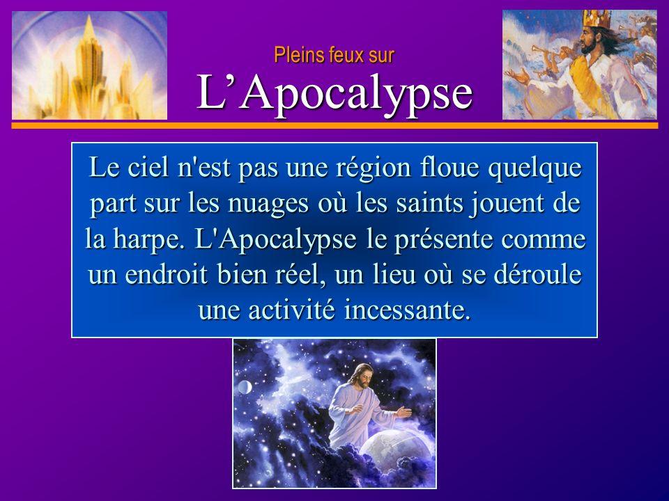 D anie l Pleins feux sur 4 LApocalypse Notez les choses qui auront disparu pour toujours d après le verset 4.