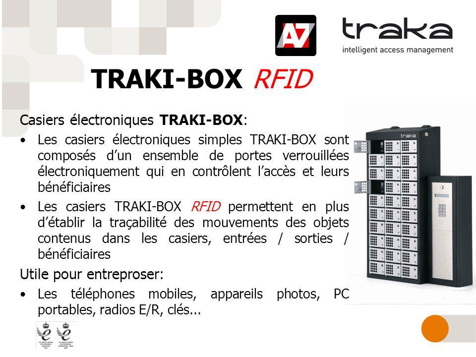 TRAKI-BOX RFID Casiers électroniques TRAKI-BOX: Les casiers électroniques simples TRAKI-BOX sont composés dun ensemble de portes verrouillées électron