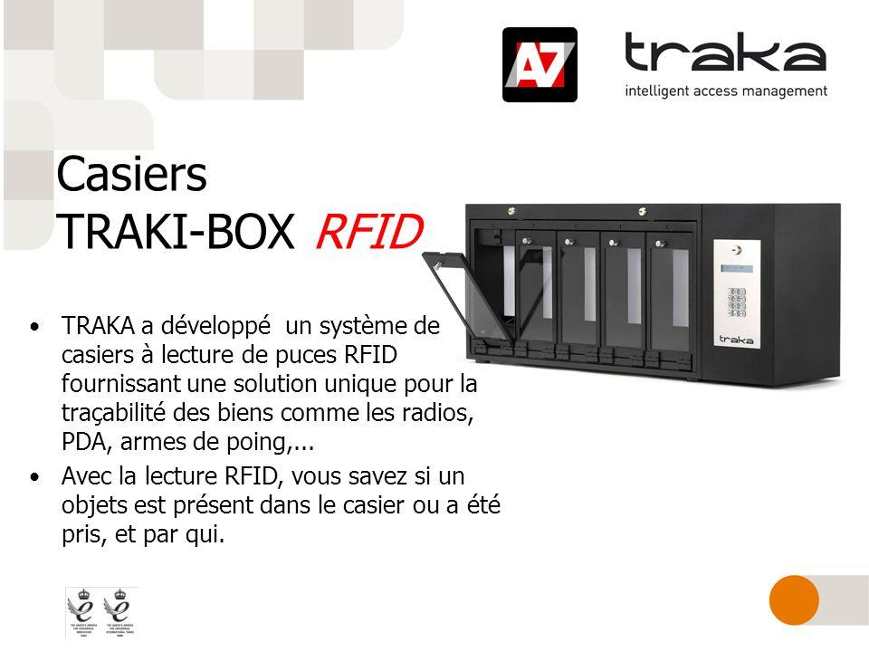 Casiers TRAKI-BOX RFID TRAKA a développé un système de casiers à lecture de puces RFID fournissant une solution unique pour la traçabilité des biens c