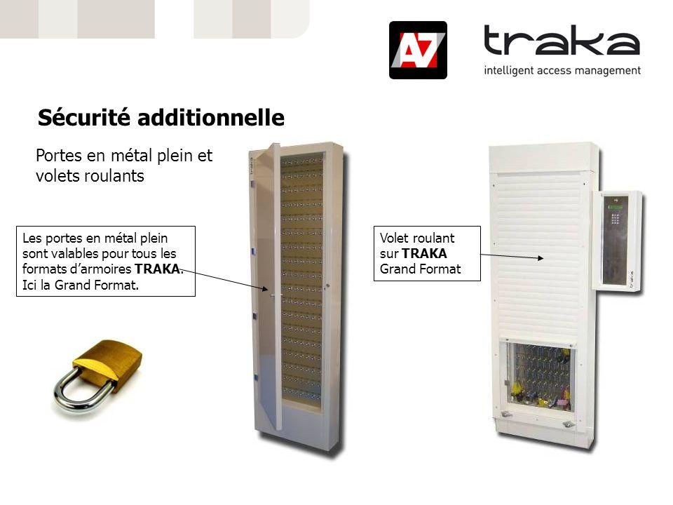 Sécurité additionnelle Portes en métal plein et volets roulants Volet roulant sur TRAKA Grand Format Les portes en métal plein sont valables pour tous