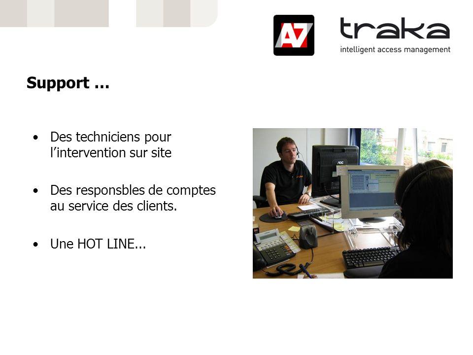 Support … Des techniciens pour lintervention sur site Des responsbles de comptes au service des clients. Une HOT LINE...