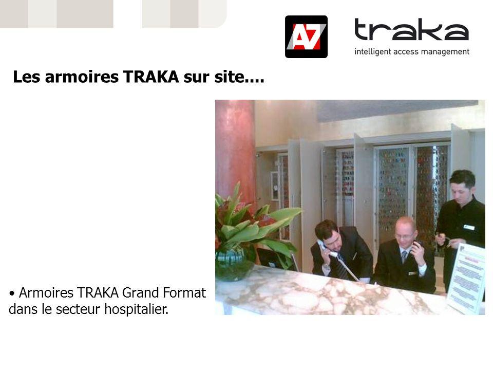 Armoires TRAKA Grand Format dans le secteur hospitalier. Les armoires TRAKA sur site....