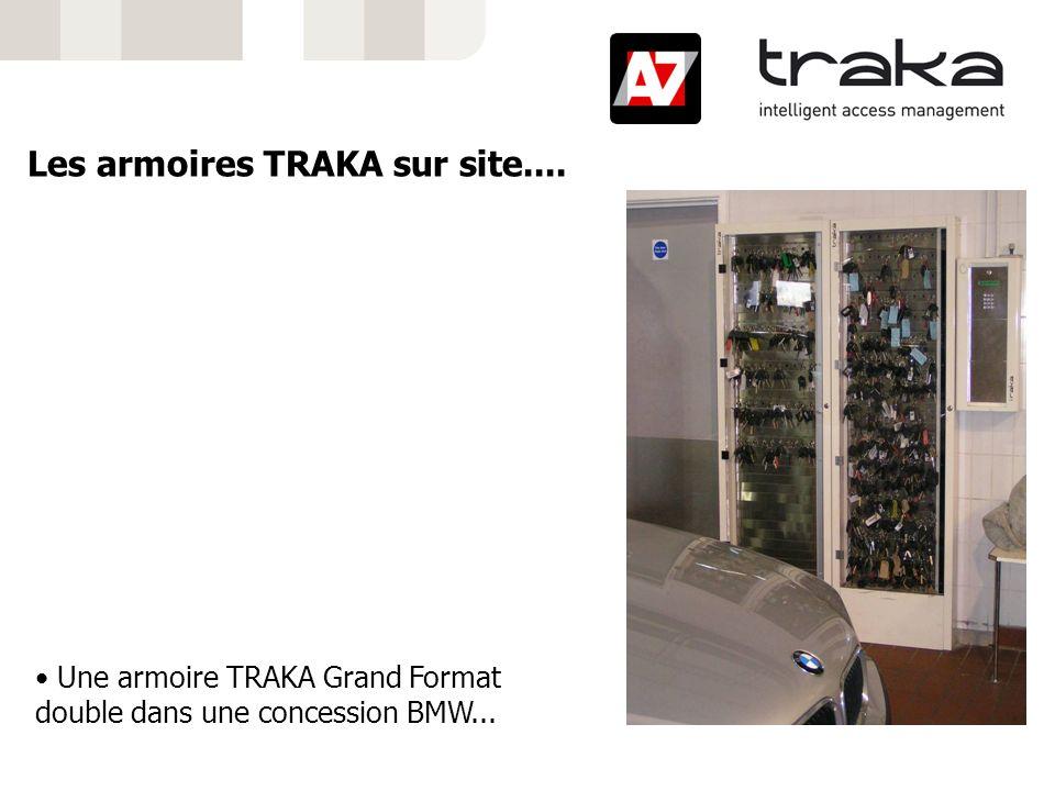 Une armoire TRAKA Grand Format double dans une concession BMW... Les armoires TRAKA sur site....