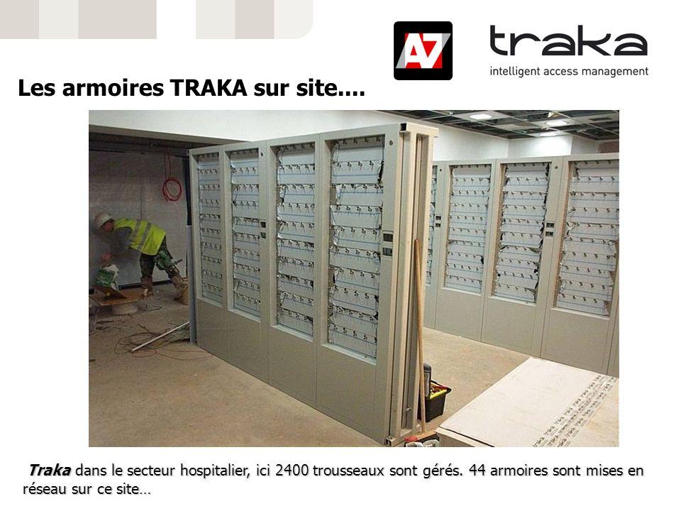 Traka dans le secteur hospitalier, ici 2400 trousseaux sont gérés. 44 armoires sont mises en réseau sur ce site… Traka dans le secteur hospitalier, ic
