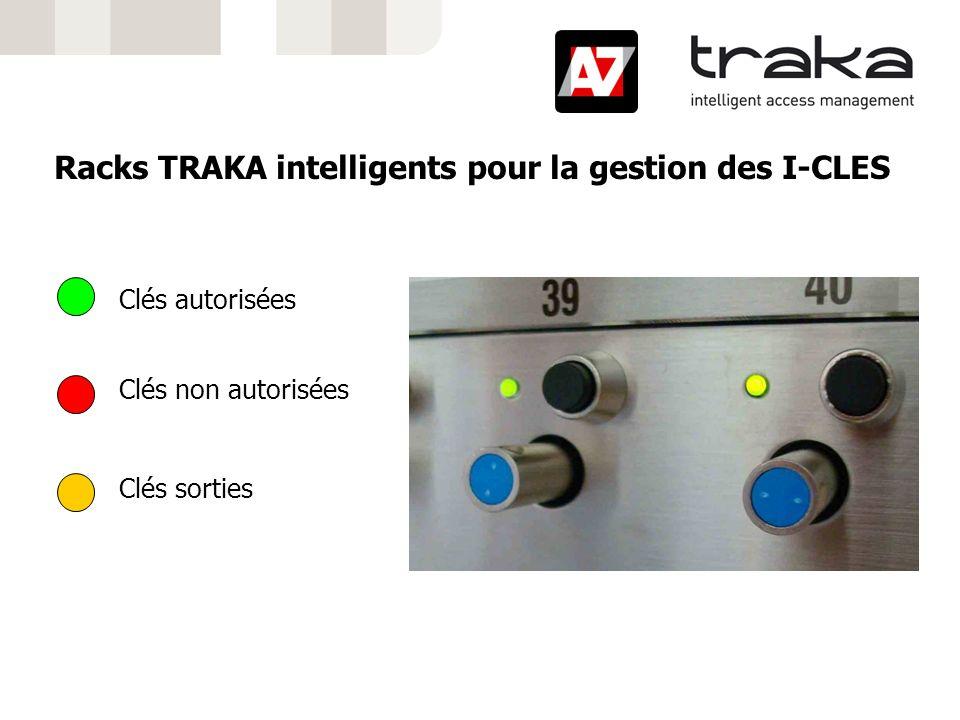 Racks TRAKA intelligents pour la gestion des I-CLES Clés autorisées Clés non autorisées Clés sorties