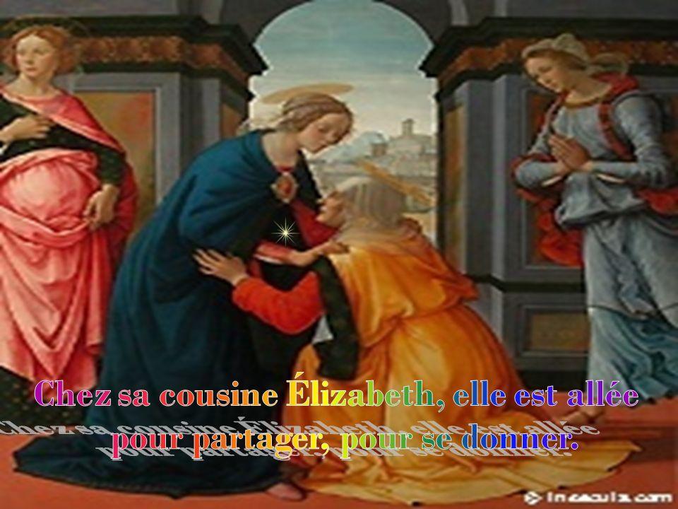 Lhumble Marie sest mise en route, le cœur alerte, le pas pressé.