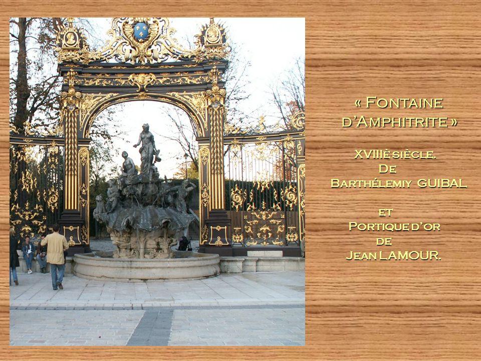 « Fontaine « Fontaine dAmphitrite » dAmphitrite » XVIIIè siècle.