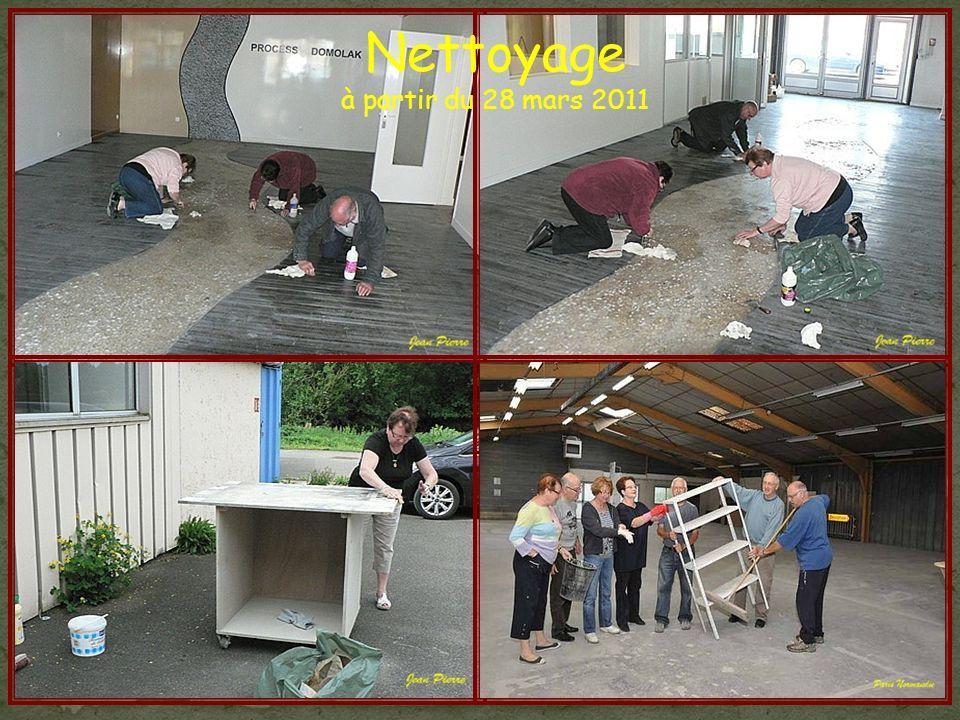 Nettoyage à partir du 28 mars 2011