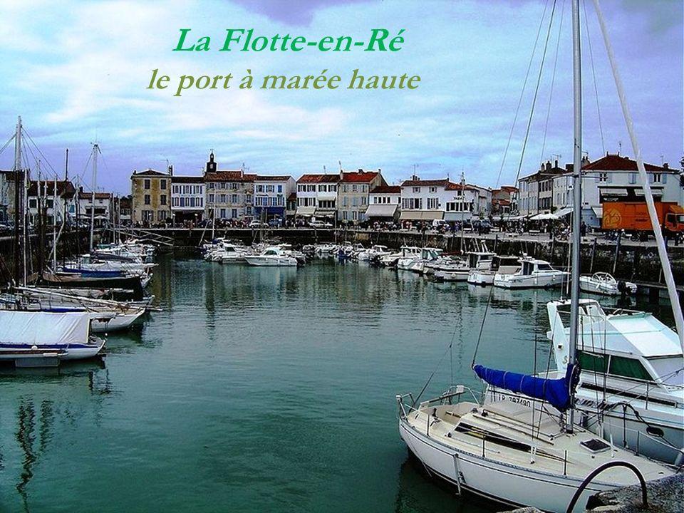 La Flotte-en-Ré Rue piétonne Le port