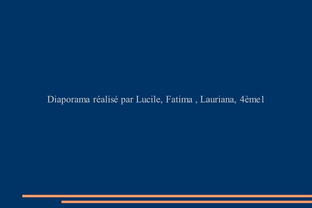 Diaporama réalisé par Lucile, Fatima, Lauriana, 4ème1