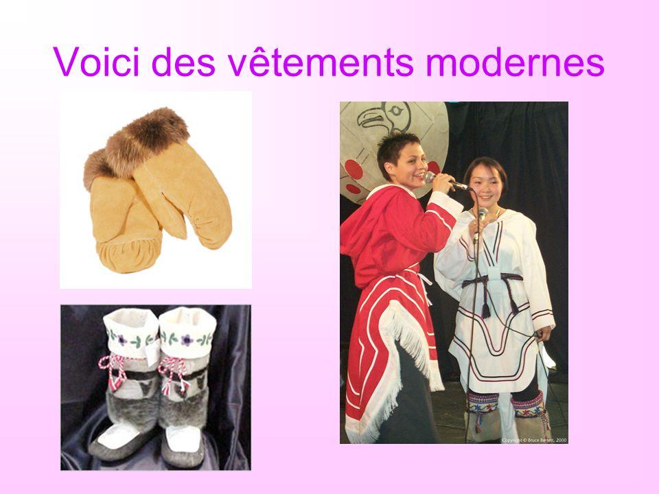 Voici des vêtements modernes