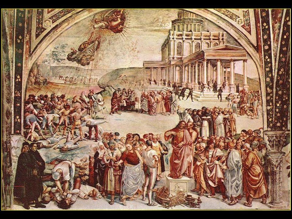 La chapelle Saint-Brice (Capella San Brizio) avec la fresque le Jugement dernier réalisée par les peintres Fra Angelico (1447-1449) et Luca Signorelli (1499-1504).