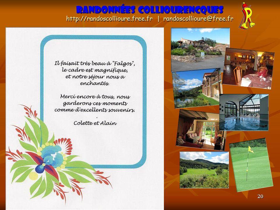 20 Randonnées Colliourencques http://randoscollioure.free.fr | randoscollioure@free.fr