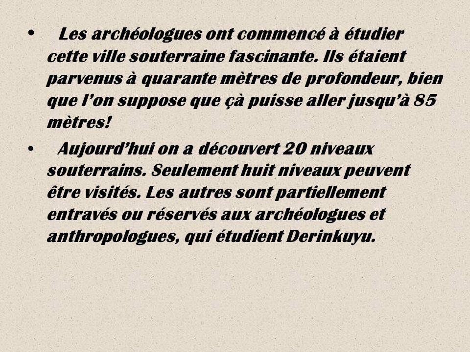 Les archéologues ont commencé à étudier cette ville souterraine fascinante.