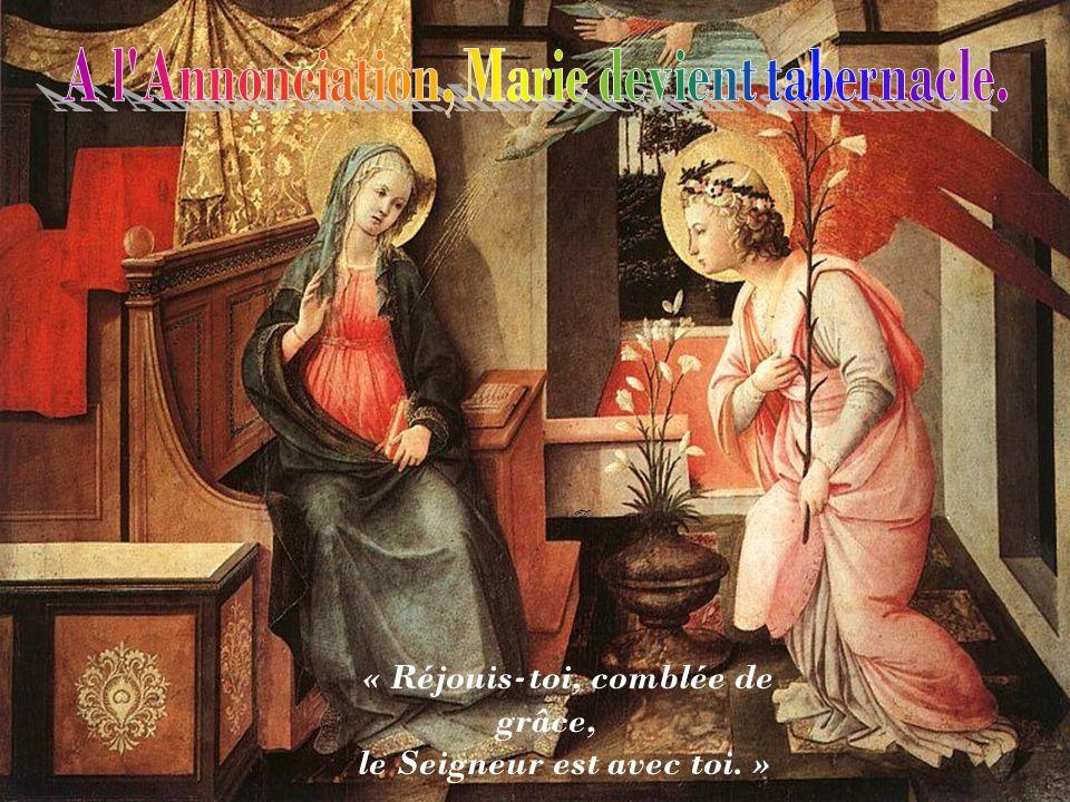R « Réjouis-toi, comblée de grâce, le Seigneur est avec toi. »