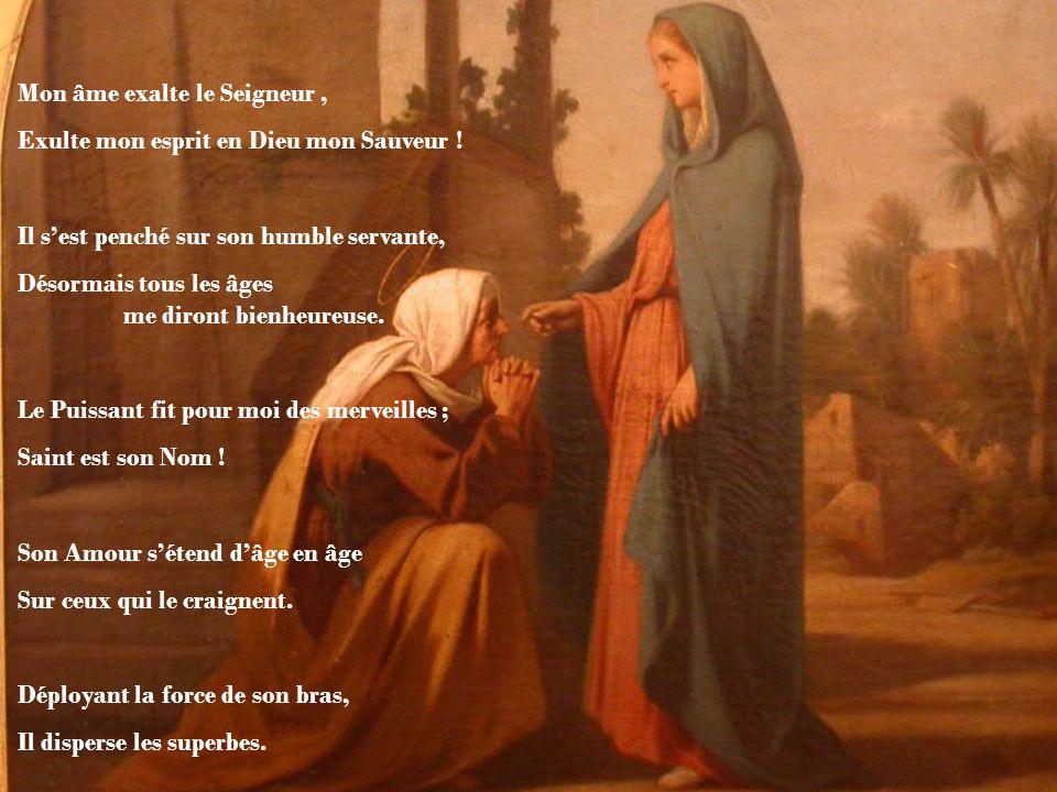 O Mère de Dieu, tu donnes au monde la Vie Mon âme exalte le Seigneur, Exulte mon esprit en Dieu mon Sauveur .