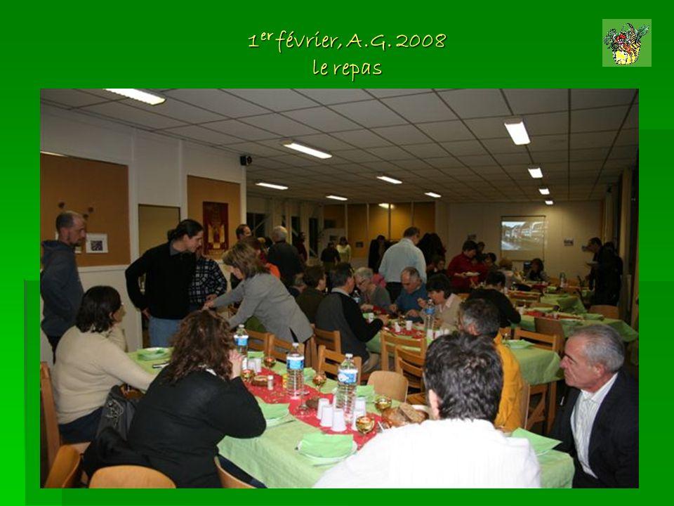 1 er février, A.G. 2008 le repas