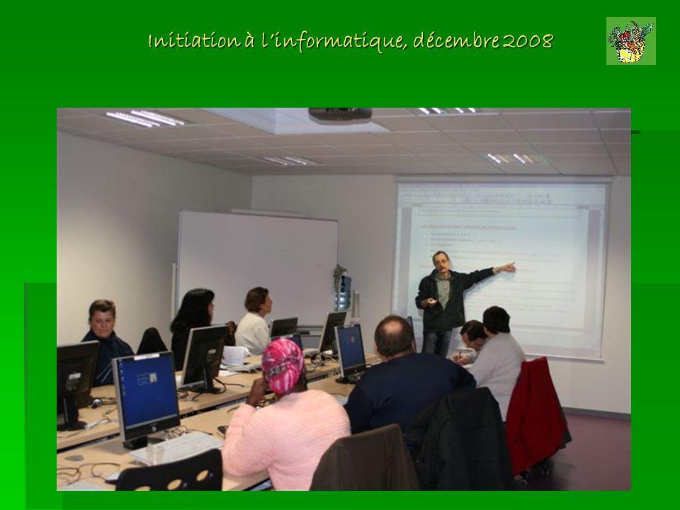 Initiation à linformatique, décembre 2008