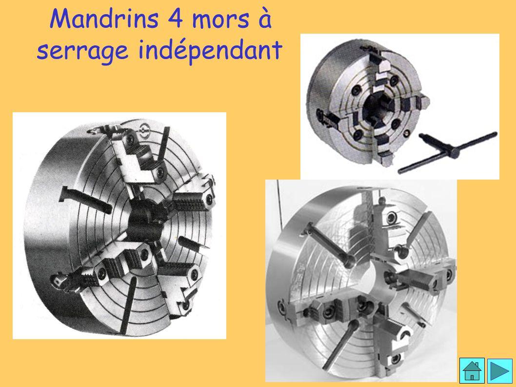 Mandrin 4 mors Mandrins 4 mors à serrage indépendant