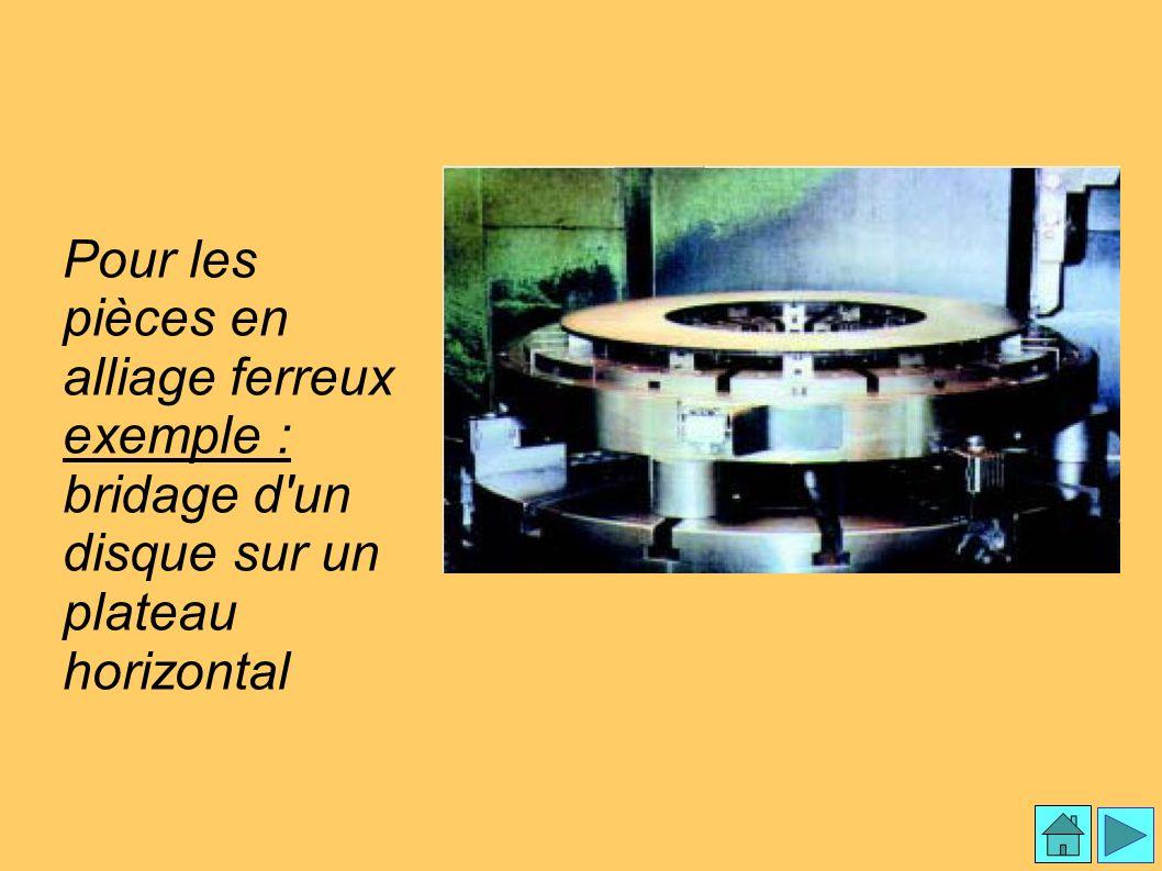 Mandrins magnétiques 3 Pour les pièces en alliage ferreux exemple : bridage d'un disque sur un plateau horizontal